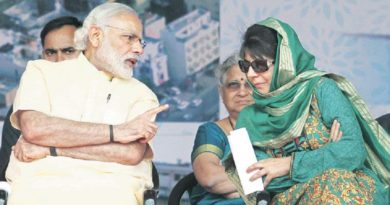 जम्मू कश्मीर मे बिगड़ते हालात के चलते बीडेपी और पीडीपी के रास्ते हुए अलग